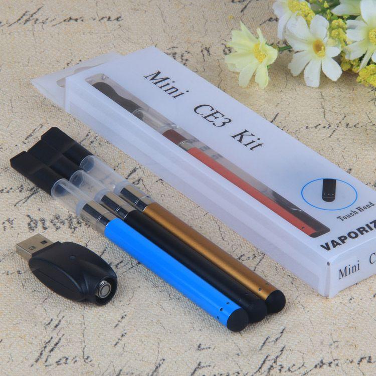 Mini CE3 Kiti Dokunmatik kitleri AÇIK atomizer ve ce3 buharlaştırıcı 280 mAh ce3 e sigara blister