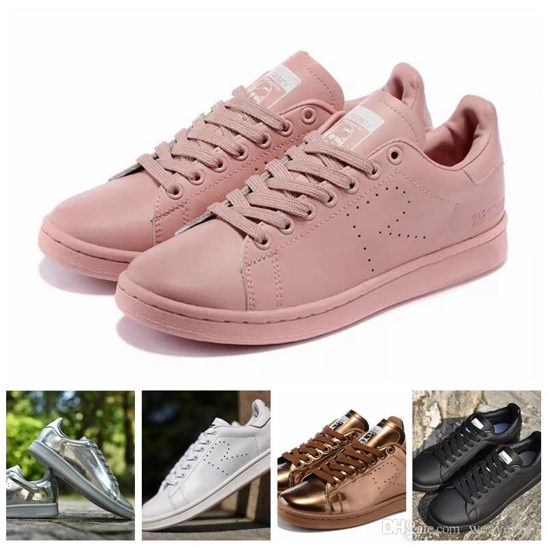 outlet reliable 2018 Raf Simons Stan Smith Spring Copper White Pink Black Fashion Shoe Man Casual Leather brand woman man shoes Flats Sneakers 36-45 buy cheap newest KyF19asx