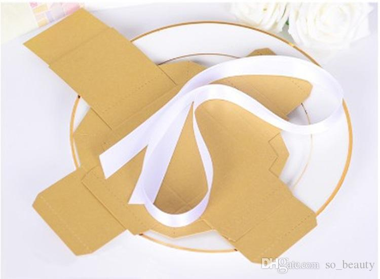 Retro Kraft Candy Boxes Cover Ribbon Wedding Faovrs Christmas Anniversary Party Gift Paper Box