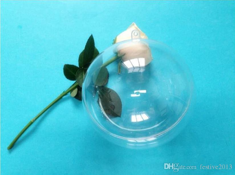 Clear Plastic Round Ball Wedding Candy Box Xmas Tree Ornament Decorations Gift Hang Ball Supplies 6 Sizes to choose