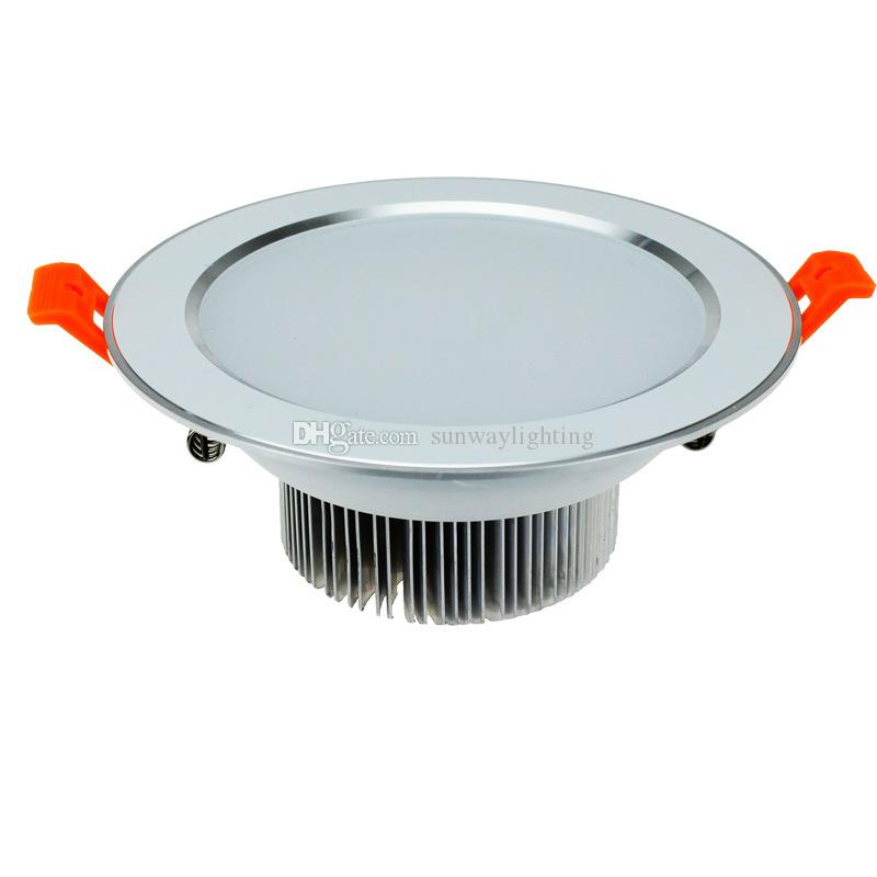 Nuevas luces de Down Down Downlight regulable 3w 5w 7w 9w 12w 15w 18w 18w Empotrable Luces de Led naturaleza cálida luz blanca interior iluminación de luces