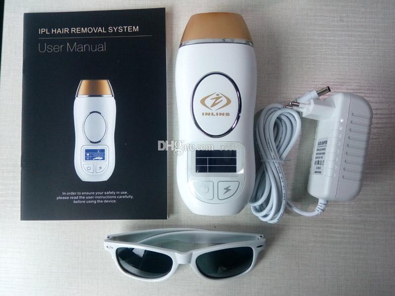 INLINS إزالة الشعر الدائم إزالة الشعر IPL مزيل 400،000 فلاش النبض مكثفة ضوء شاشة LCD الأصلي