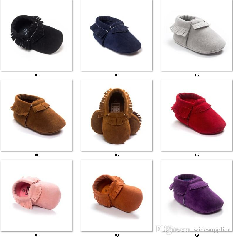 New Grind arenaceous feeling Handmade baby moccasins tassel Girls and Boys Toddler shoes Spring and winter model 4289 free ship