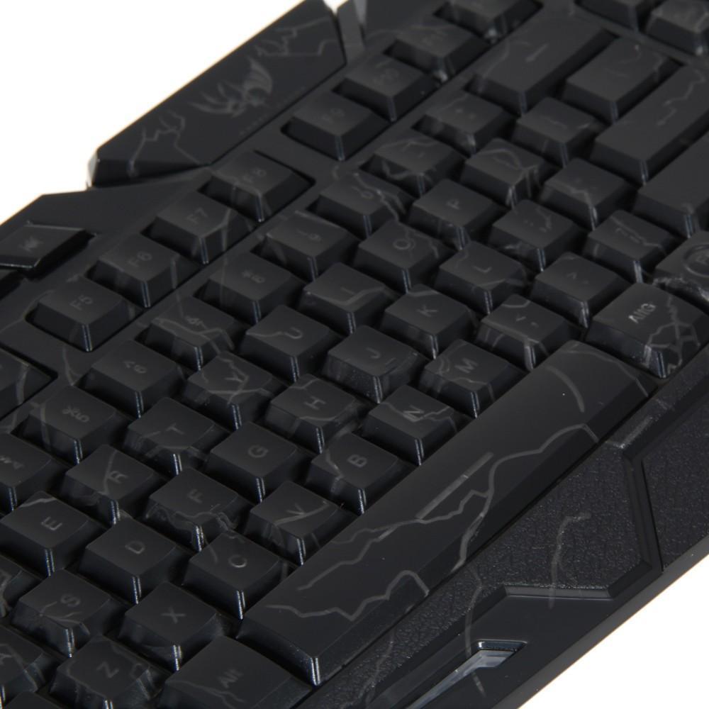 Оригинальный M200 LED клавиатура трещины подсветкой USB мультимедиа PC Gaming Gamer Game Keyboard регулируемая светодиодная подсветка для lol