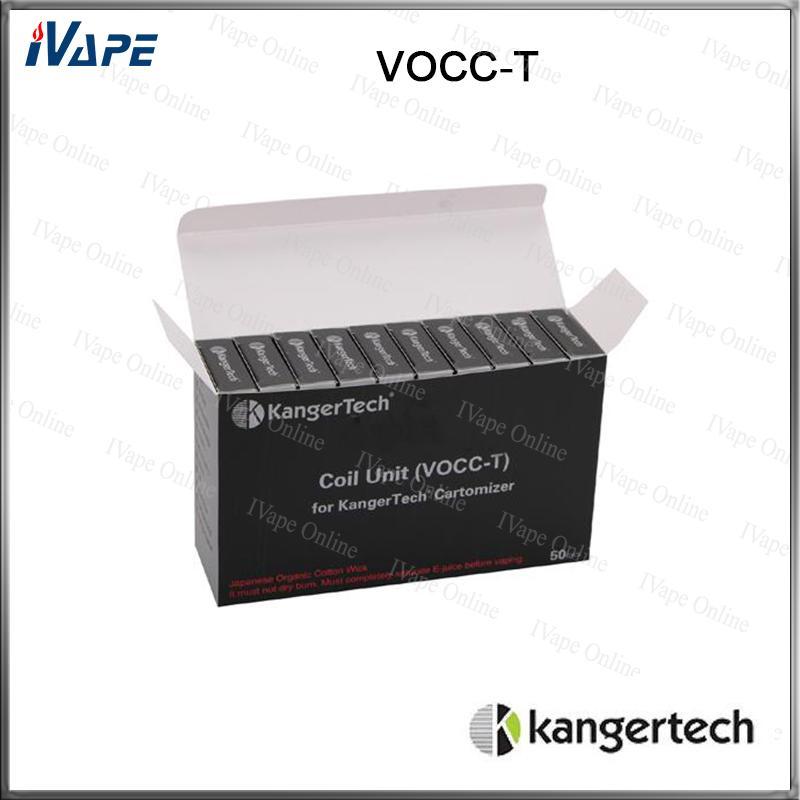 Kangertech için toptan 100% Orijinal Kanger VOCC-T Bobin Ünitesi Yedek Bobin Kafaları Toptan Evod Aerontank Protank 3 Toptank 1.2ohm 1.5ohm 1.8ohm