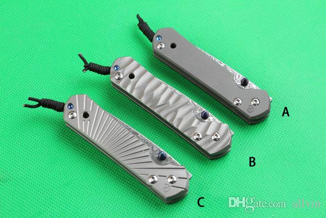 Classic Chris Reeve Sebenza 21 Small Size folding Knives Damascus steel 58HRC blade knife CNC TC4 titanium alloy handle knife knives