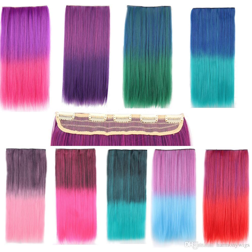 Synthetic Clip In Hair Extensions Ponytail Straight Hair Pieces
