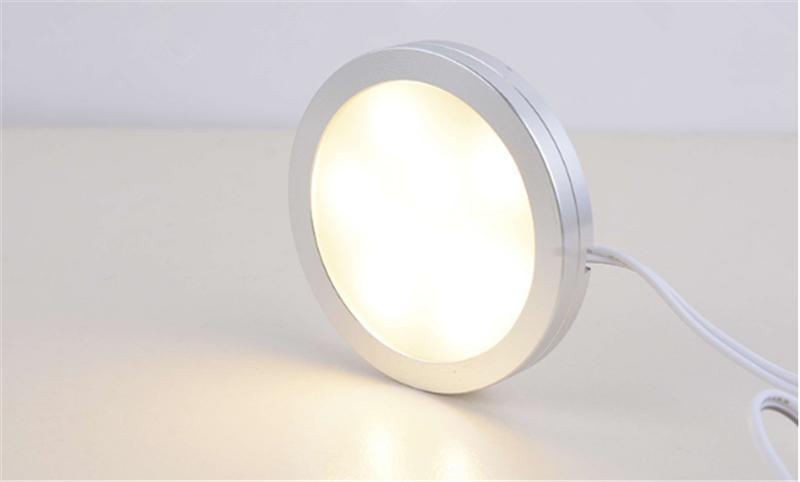 vendita all'ingrosso 2W 2.5W LED luce puck 12 V 220 V 110 V ultra sottile rotondo LED sotto lampada da cucina luce dell'armadio