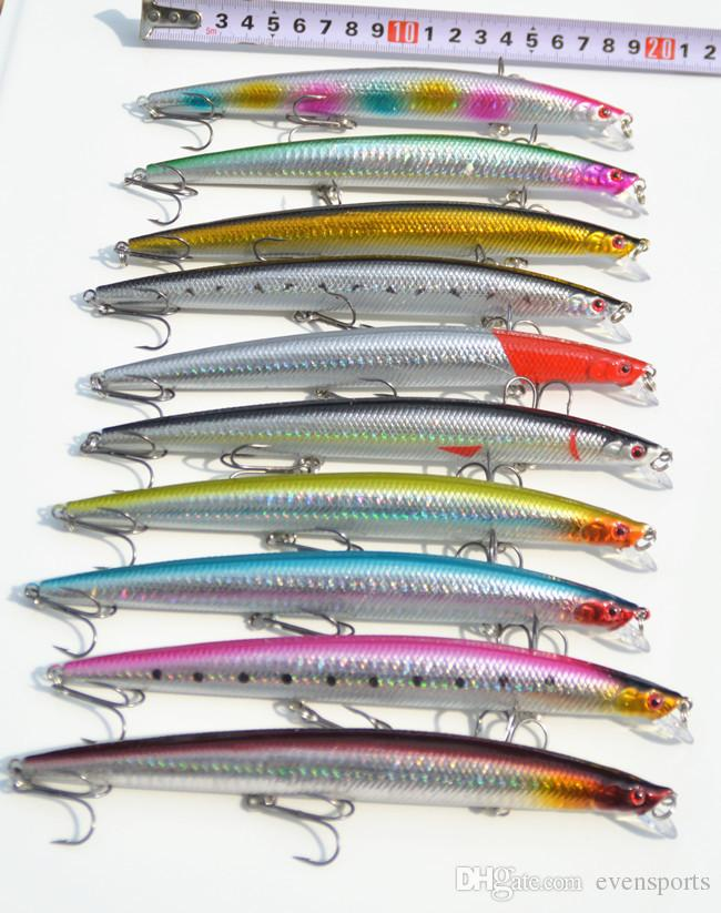 New Arrival Ocean Fishing Lure Big Size Game Artifial Lures Laser Minnow Catch Bass 18cm/26g