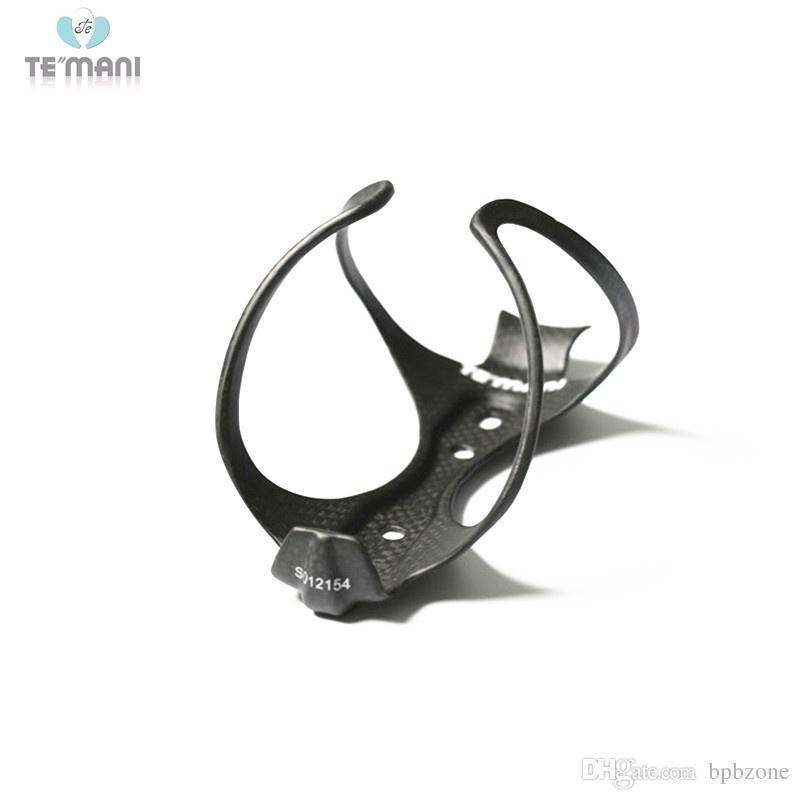 2pcs TEMANI Carbon MTB Road Bicycle Water Bottle Cage Bottle Holder 3K Black