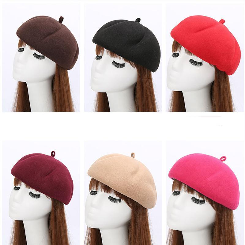 5a4003687c468 New Autumn Winter Vintage Women Pumpkin Hats Cute Wool Blends ...