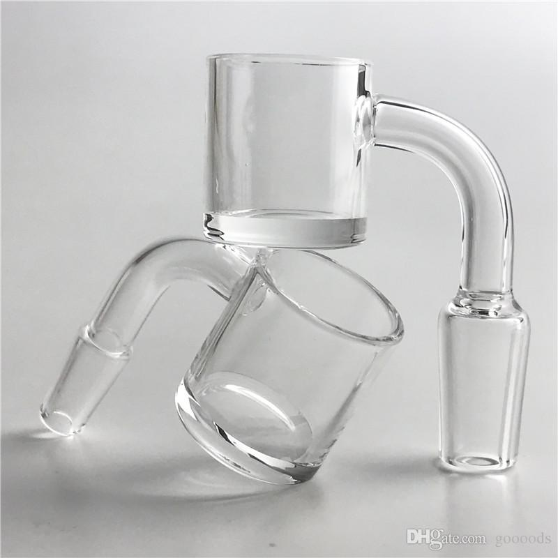 25mm XL Flat Top Quartz Banger with 2mm Thick Walls 4mm Bottom Domeless Quartz Nails With 10mm 14mm 18mm male female For Smoking
