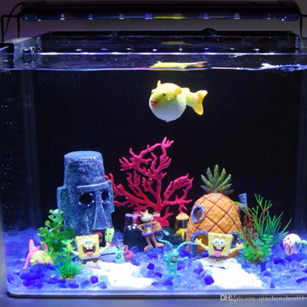 무료 배송 수족관 수생 동물 하우스 홈 물고기 탱크 조경 장식 장식