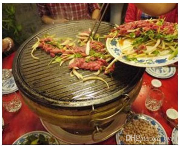 barbecue rame stufa a carbone a carbone griglie di rame piatto caldo con la griglia esterna giardino picnic ristorante barbecue 007