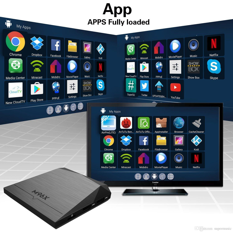 Android Tv Box M96x Amlogic S905x 2gb 8gb 4k Kodi 16 1