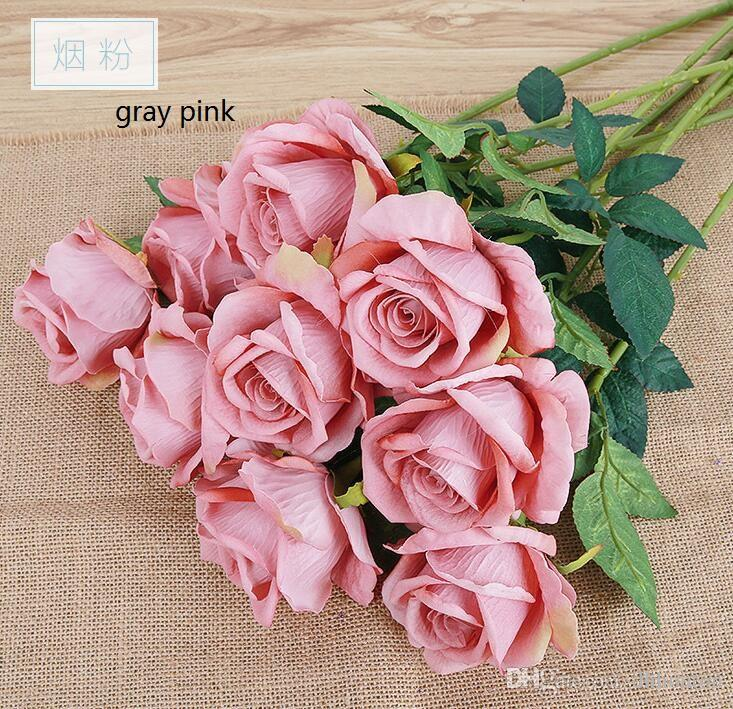 Silk rose Artificial Flowers Real like Rose Flowers Home decorations for Wedding Party Birthday room for choose HR009