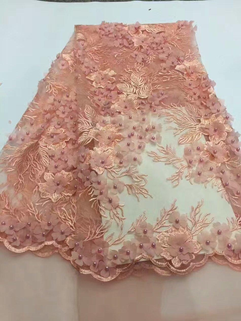 Peach 3d flower fabric with beads 2017 new design beaded lace peach 3d flower fabric with beads 2017 new design beaded lace fabric with 3d flower high quality african lace fabric fabrics with 3d flowers fabric with reviewsmspy