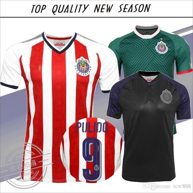 half off 5aad6 58ab0 2018 New Chivas de Guadalajara soccer jerseys soccer jerseys Chivas Home  Away 17 18 110 Year commemorates E.LOPEZ A.PULIDO Shirts