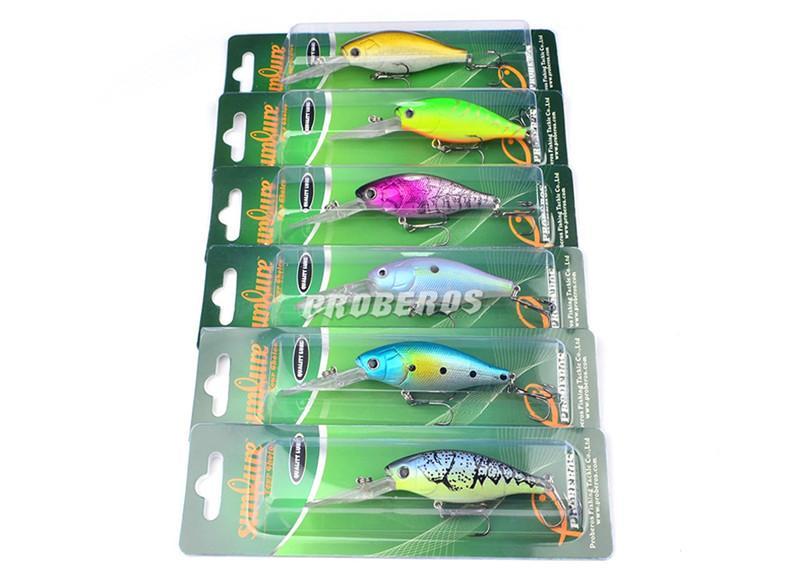 Новый Aritificial океан море рыбалка приманки приманки 6 цветов 7 см / 16.46 г ABS пластик длинный законопроект гольян рыболовную приманку