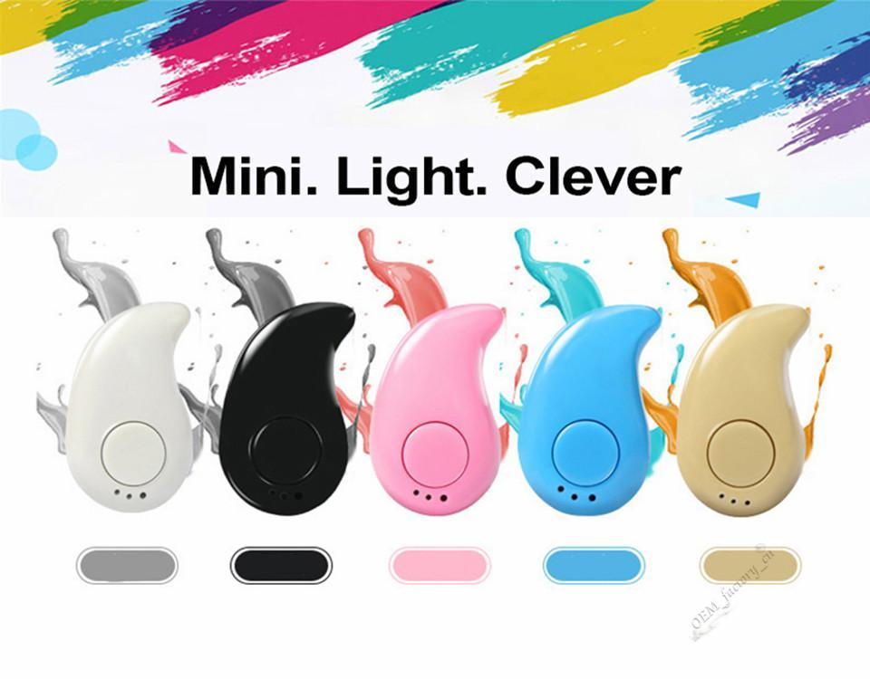 iPhone X 용 S530 미니 무선 4.1 블루투스 이어폰 스테레오 라이트 스텔스 헤드폰 마이크가 달린 소형 이어 버드 초소형 숨겨진 헤드셋