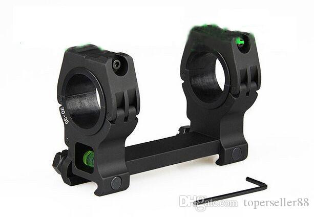 QD mount 30mm to 35mm ring diameter fits 20mm rail with bubble level for rifle scope hunting