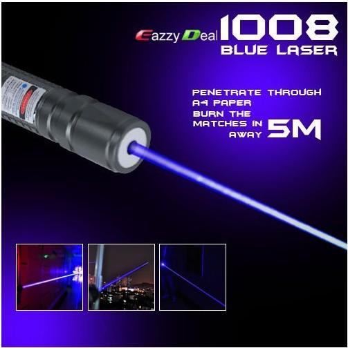 NOVO de alta potência 1000 m 405nm Poderoso roxo-azul ponteiros laser violeta SOS Lazer Lanterna ensino de caça, frete grátis