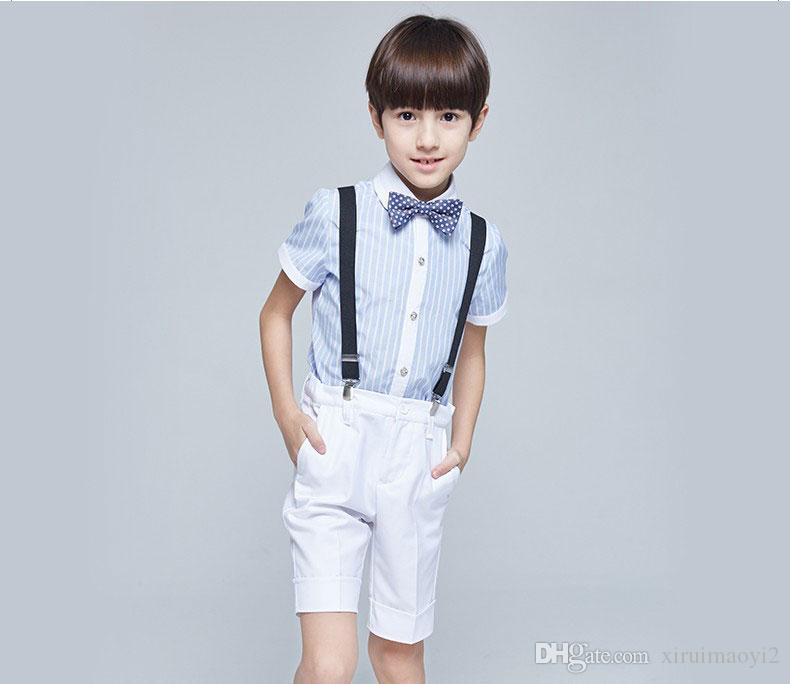 Boys Suits For Weddings Blue Stripe Kids Prom Suit Baby Summer Sets ...