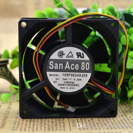SANYO 8 cm 0.29 A 80 * 80 * 32 24 V 109 P0824A209 inversor de tres hilos velocidad de chasis fuente de alimentación ventilador de refrigeración