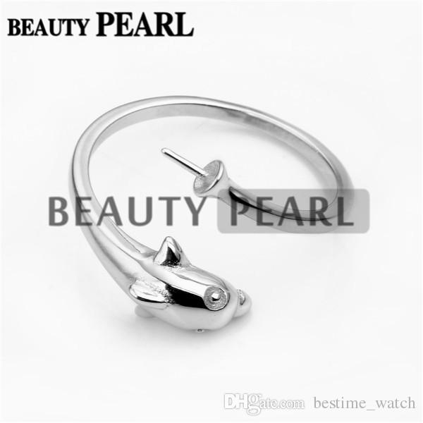 Bulk of Ring Mount for DIY Jewellery Findings 925 Sterling Silver Dolphin Ring Blank