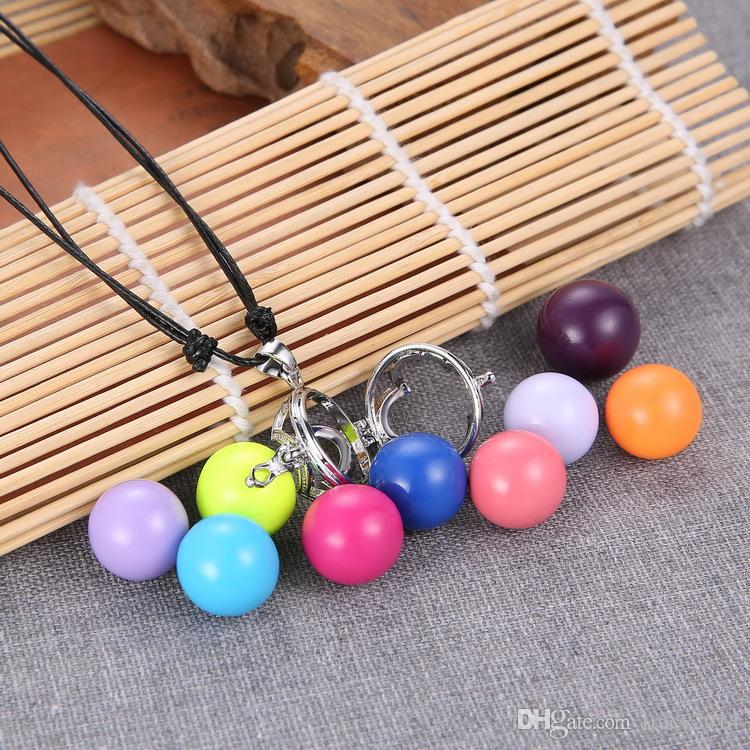 Pregnant Ball Necklace women necklace pendant Cage Angel Ball Copper Baby Chime Pregnancy cross Necklace 60cm-120cm ajustable necklaces