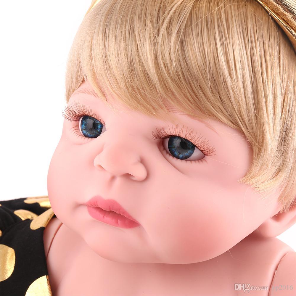 Coniglio da 55 cm Completo corpo in silicone Baby girl Bambole vere Bambole realistiche Giocattolo ragazza Realistico Boneca BeBe Bambole da bagno regalo
