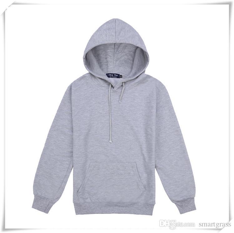 남성 면직물 후드 풀오버 스웨터 후드 긴 소매 코트 재킷 캐쥬얼 플레인 후드 티 배송