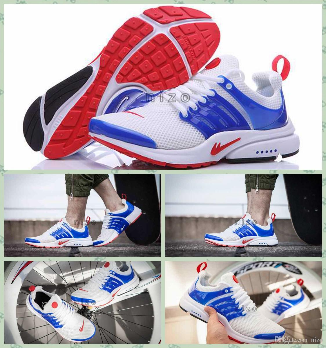 huge selection of c9572 66eb6 Acheter 2016 Nouveaux Air Presto GPX Olympic USA Chaussures American Flag  Femmes Et Hommes Chaussures De Course Mesh Air Presto Chaussures Taille 36  45 De ...
