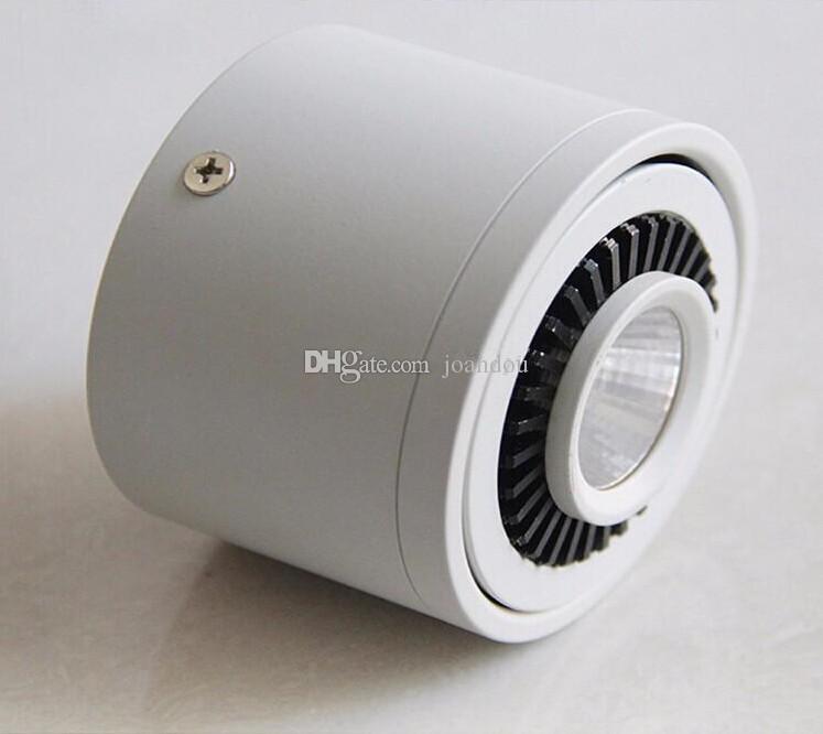 Fábrica caliente venta 7W / 10W / 15W / 20W Superficie montada LED Downlights AC85V-265V LED Downlight con negro / plata colores de carcasa