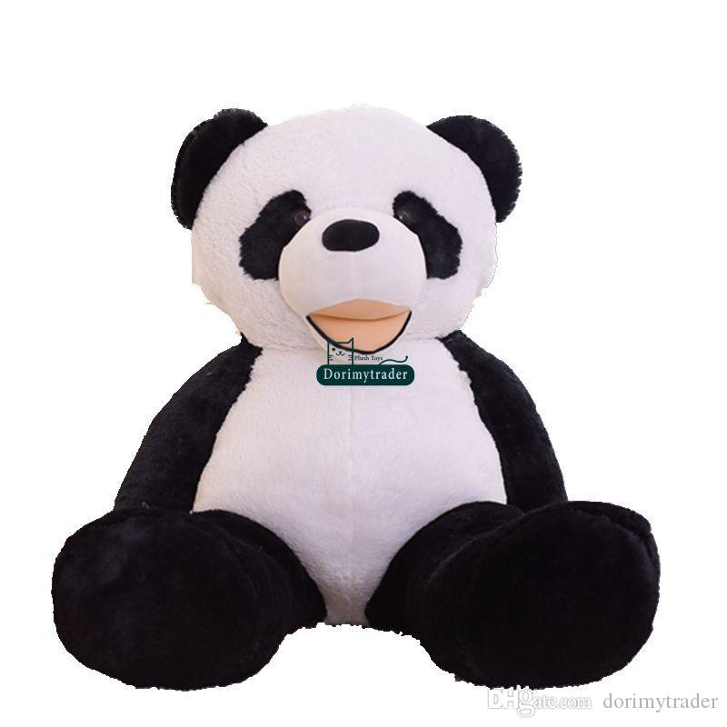 Dorimytrader Jumbo Cartoon Panda Plush Toy Giant Smiling Panda Stuffed Pillow Toys Animal Dolls Great Gift Decoration 102inch 260cm DY60396