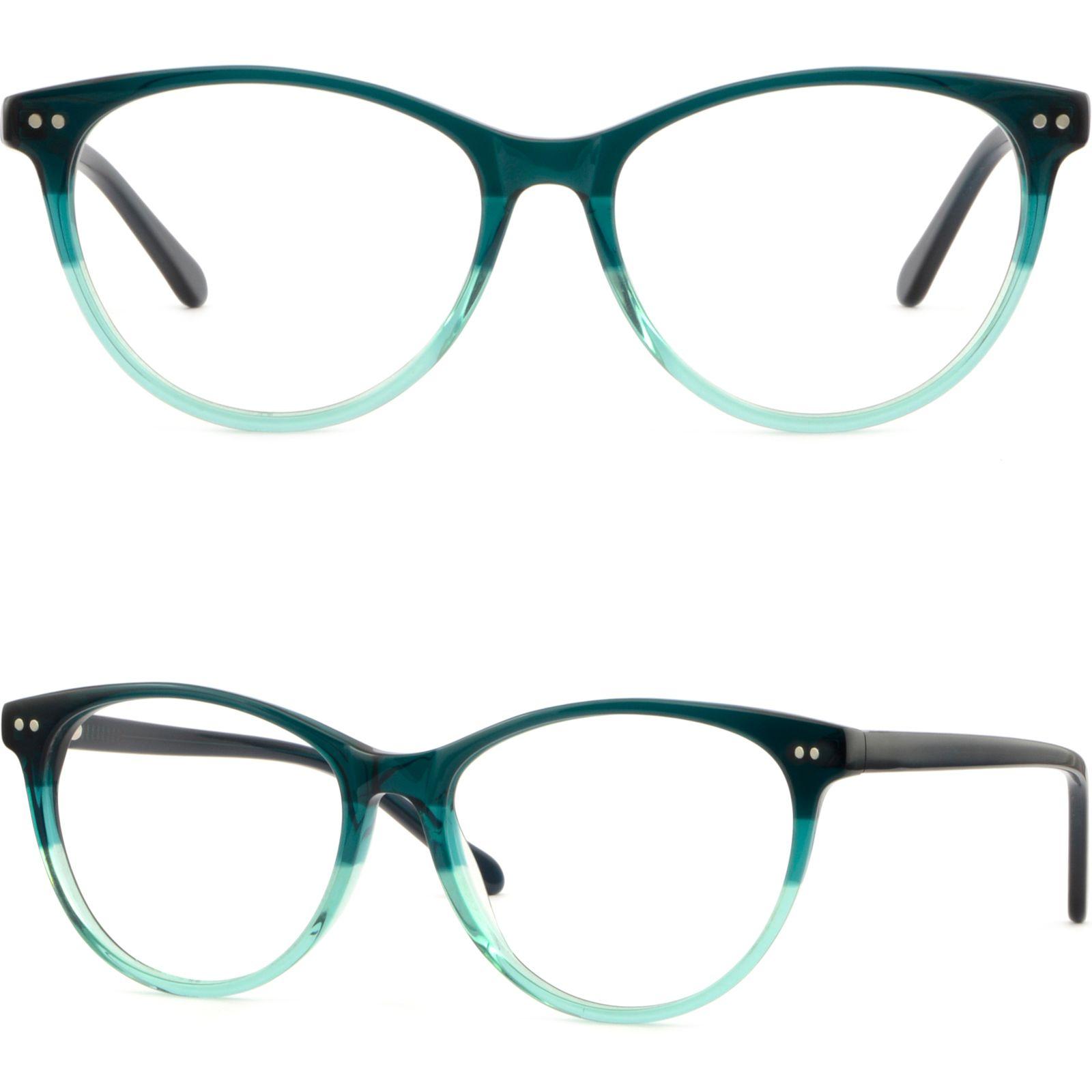Compre Thin Men Women Acetato Frame Spring Bisagra Gafas Redondas ...