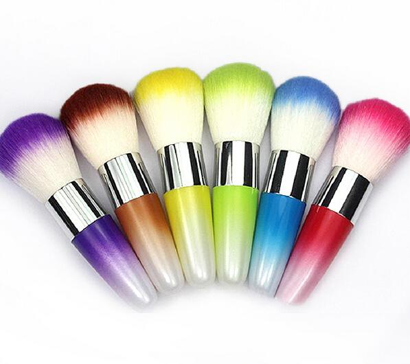 2016 New Fashion MakeUp Tool Powder Remover Nail Art Cleaner Nail Dust Blush Foundation Colorful Brush