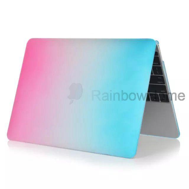 Dazzle Color Matte Жесткий прорезиненный чехол для MacBook Air Pro с сетчаткой 12 13 15-дюймовый ноутбук Кристалл Красочная радуга Shell
