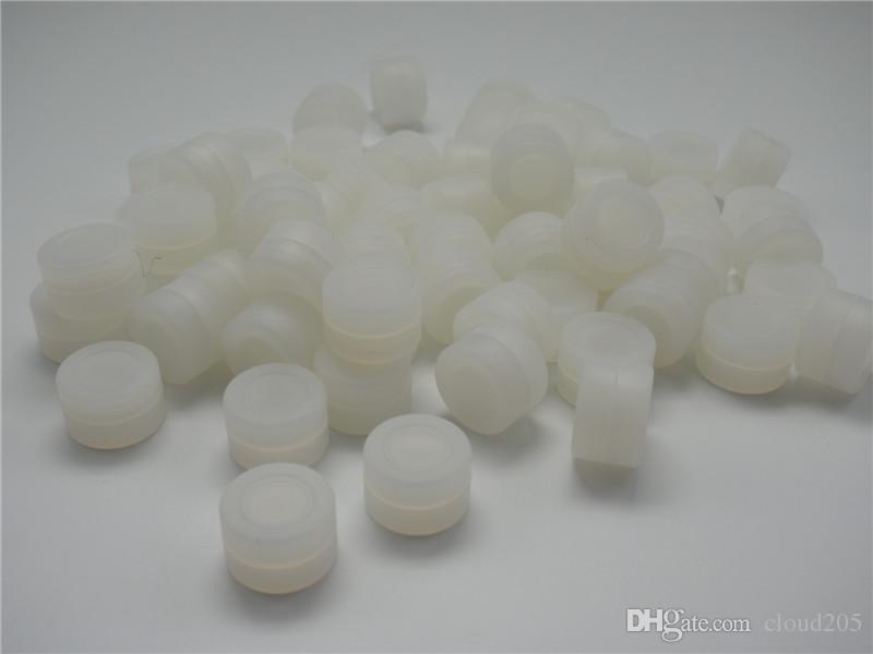 シリコーン容器瓶喫煙ラウンドノンスティックダブワックスコンテナ3ml