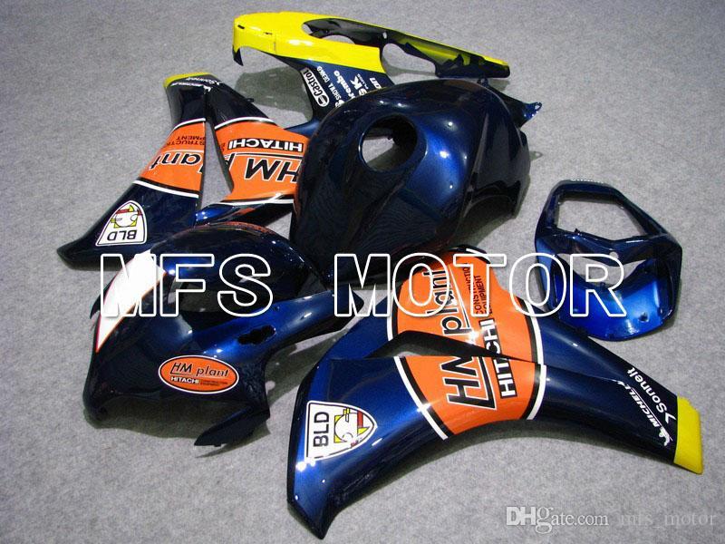 Set de carénage Fit pour 08 09 10 11 Honda CBR1000RR 2008-2011 Injection Moule ABS en plastique kit de carrosserie Livraison gratuite