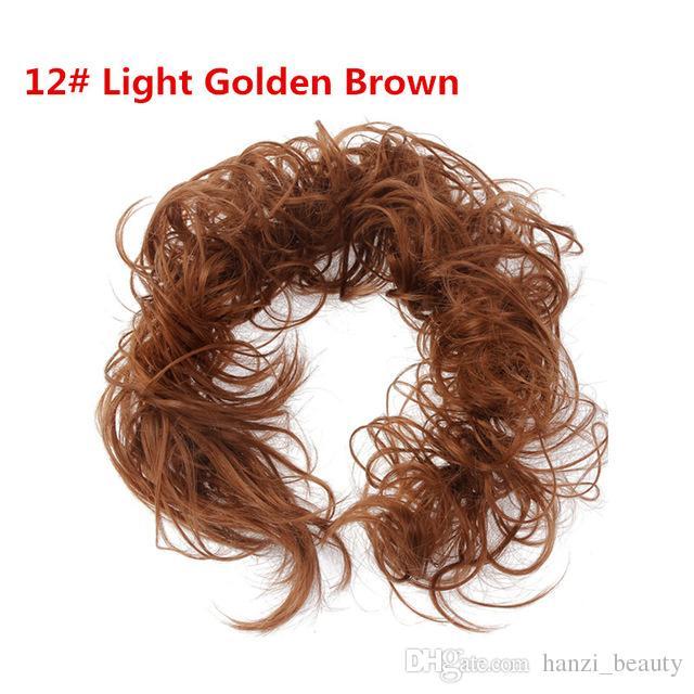Capelli sintetici in fibra ad alta temperatura cravatte capelli ricci scrunchie capelli coda di cavallo multi-way updo accessori capelli
