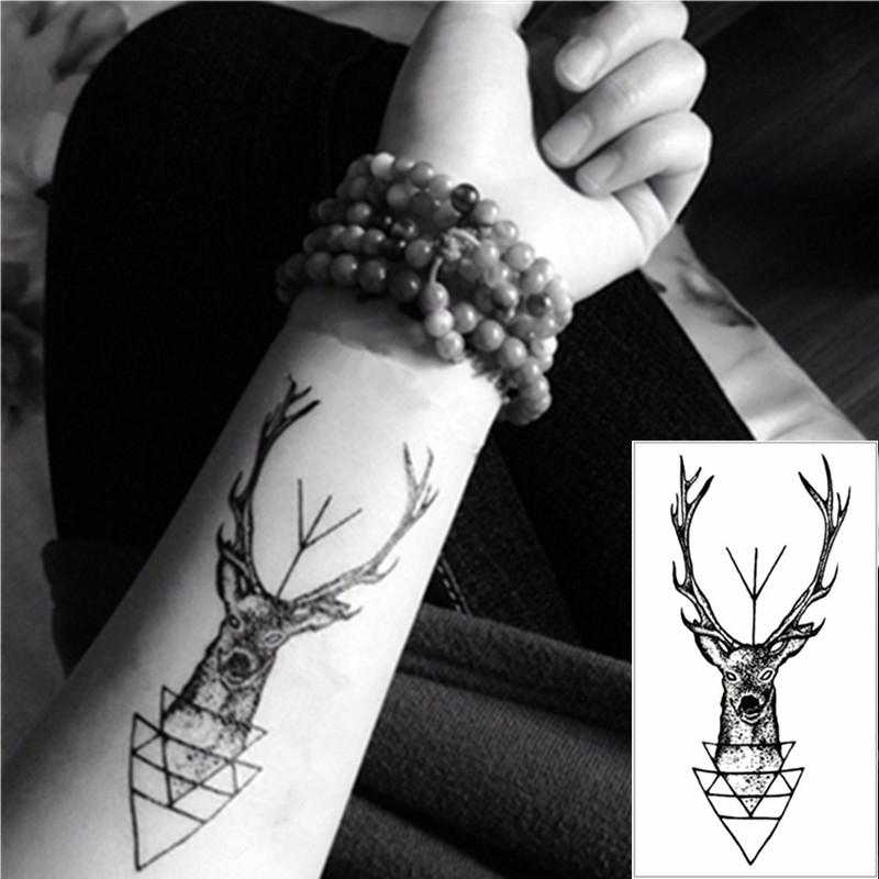 Wholesale Cute Elk Flash Tattoo Hand Sticker 1056cm Small