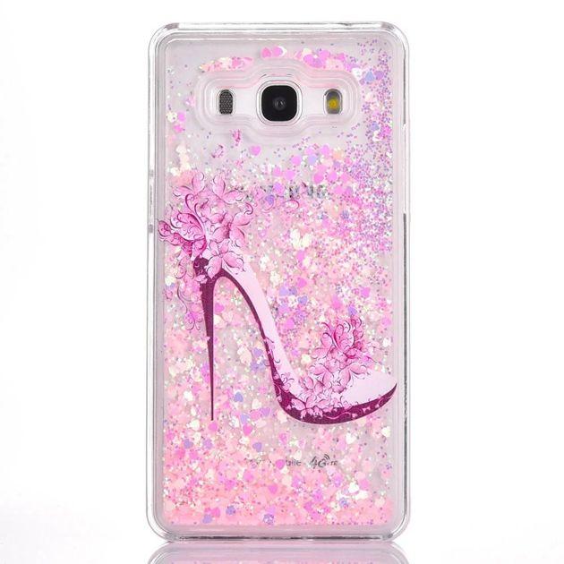 For Samsung Galaxy Grand Prime G530 G530H Quicksand Liquid Hard PC Case Cartoon Flower Clear Dynamic Glitter Shoes Tree Girl Love Skin Cover