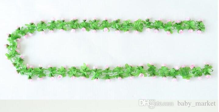 15% de réduction! 2.2 m artificielle rose fleurs Wisteria fleur de vigne fleur de rotin de soie pour la décoration de l'air de mariage et de la maison ornement /