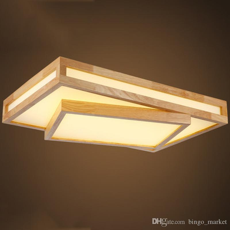 Modern Led Ceiling Lights Wood Lighting Plafoniere Kids Modern Ceiling Lamps  Lampara De Techo Luminaria Square Lighting Fixture Screw In Pendant Lights  ...