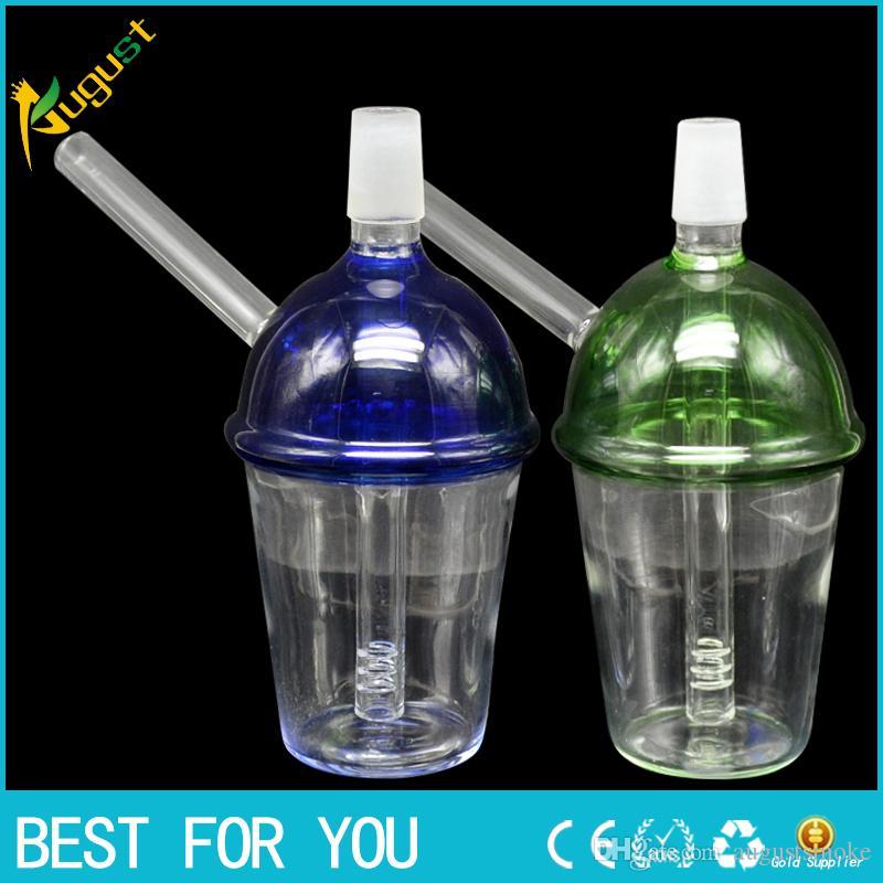 Nouvelle tasse en verre 2 tailles Verre Conduites d'eau Verre Bong Bubbler Tuyaux de forage pétroliers Taille de joint 14mm 19mm Narguilé de verre sans logo