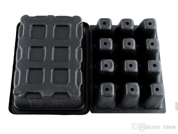 -PACK Großhandel Durable 12 Zellen Loch Kinderzimmer Töpfe Pflanzensamen Wachsen Box Tray Einsatz Ausbreitung Seeding Fall Mini Blumentöpfe Plug-Trays