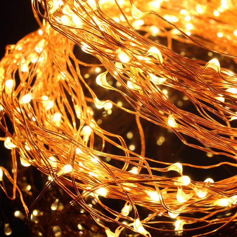 33ft 100LED 별이 빛나는 요정 문자열 조명 밝은 미니 LED 구리 와이어 RF 원격 제어와 함께 조 광 기 어댑터 Dimmable 장식용 요정 빛