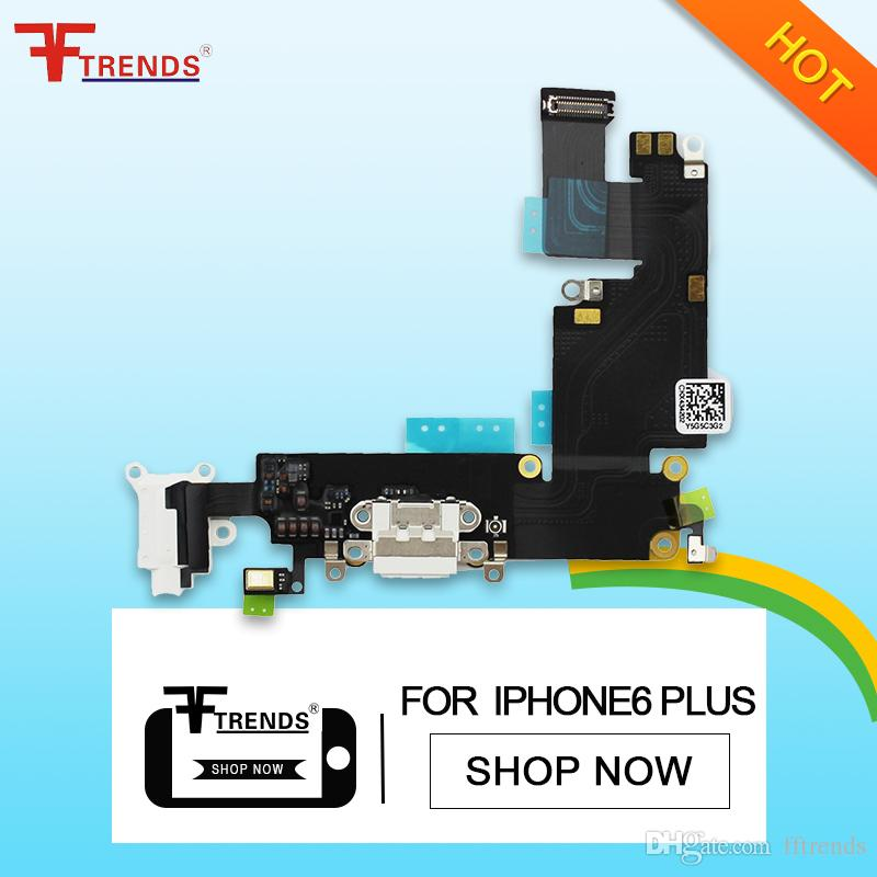 detailed look cef4b 50f2d for iPhone 6 Plus Dock Connector Charger Charging Port Flex Cable 5.5inch  Replacement Repair Parts 100% Tested Dropshipping
