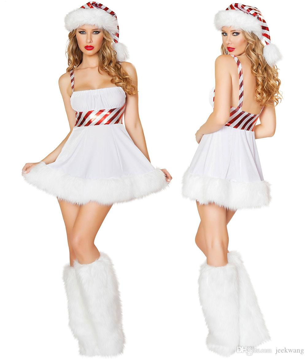 796b1b7a3fb9 Women Sexy Santa Christmas Costume Fancy Dress Xmas Office Cosplay Party  Outfit ZL768 S-L